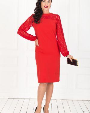 Вечернее платье платье-сарафан красный Taiga