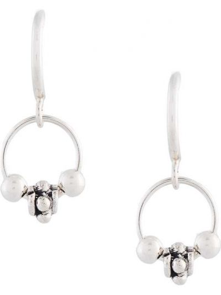 Серебряные серьги-кольца с заклепками Petite Grand