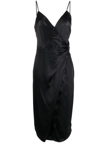 Платье миди с открытой спиной на пуговицах T By Alexander Wang