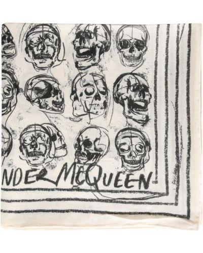 Szalik bawełniany - biały Alexander Mcqueen