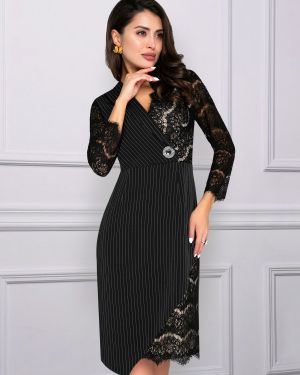 Вечернее платье в полоску на молнии Charutti
