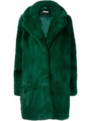 Zielony długi płaszcz Apparis