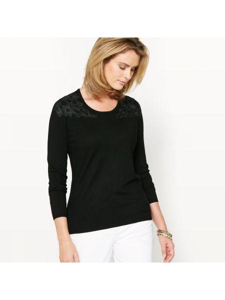 Пуловер с V-образным вырезом с аппликацией Anne Weyburn