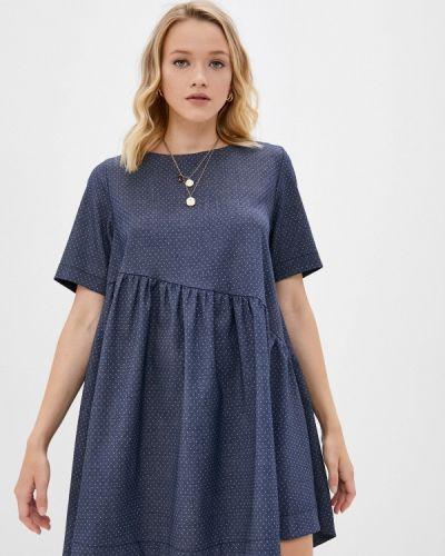 Прямое платье - синее Gk Moscow