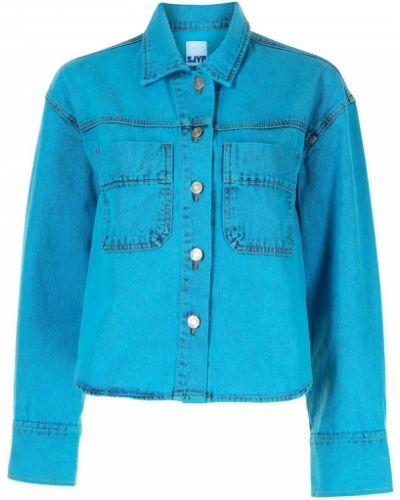 Хлопковая джинсовая куртка - синяя Sjyp