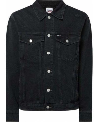 Bawełna czarny kurtka jeansowa z kołnierzem Tommy Jeans