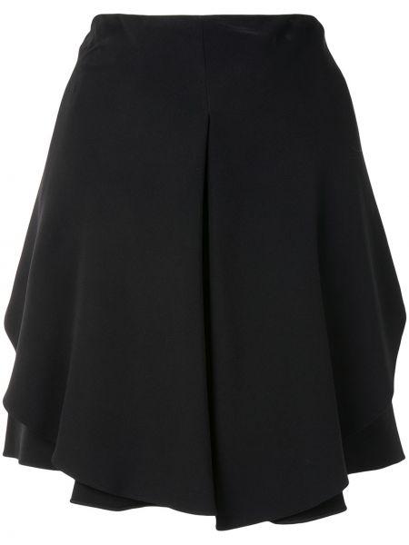 Asymetryczny czarny spódnica mini wysoki wzrost z wiskozy Emporio Armani