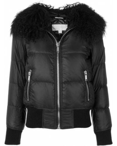 Кожаная куртка с мехом из полиэстера Michael Michael Kors