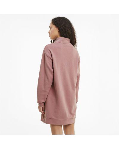 Свободное розовое брендовое платье Puma