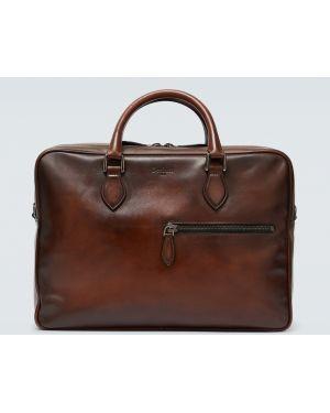Кожаный портфель - коричневый Berluti
