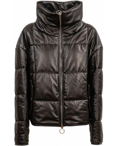 Czarny płaszcz Drome