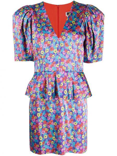 Платье мини с цветочным принтом с V-образным вырезом Rotate