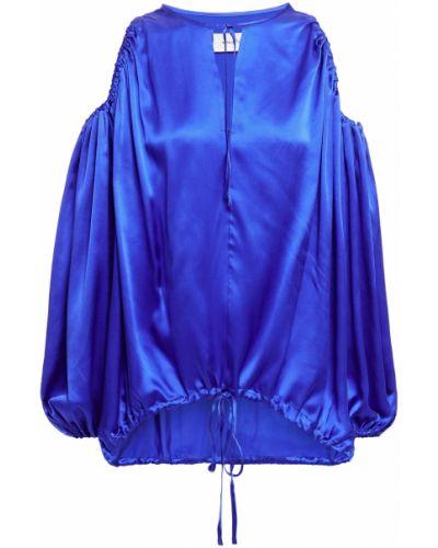 Satynowy niebieski top Marques Almeida