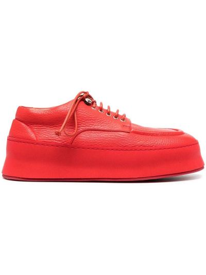 Кожаные красные оксфорды на шнуровке Marsèll