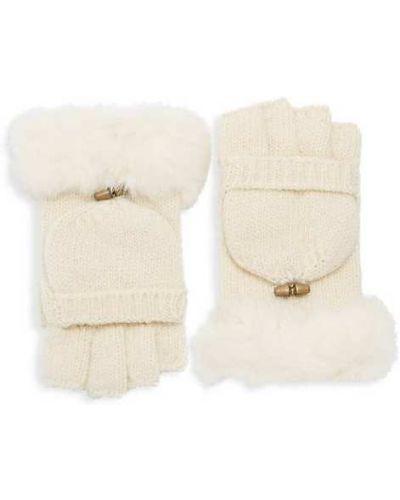 Czarne rękawiczki bez palców wełniane Adrienne Landau
