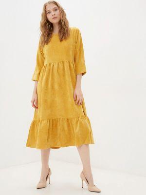 Прямое платье - желтое Vivostyle
