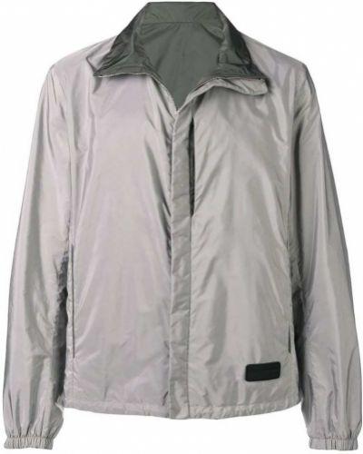 Рубашка с длинным рукавом серая с карманами Prada