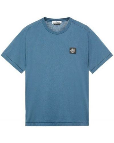 T-shirt bawełniana - niebieska Stone Island