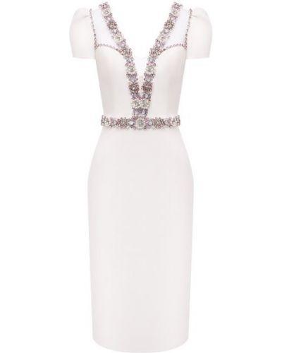 Белое платье с подкладкой Jenny Packham