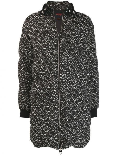 Черная стеганая куртка на молнии Giambattista Valli