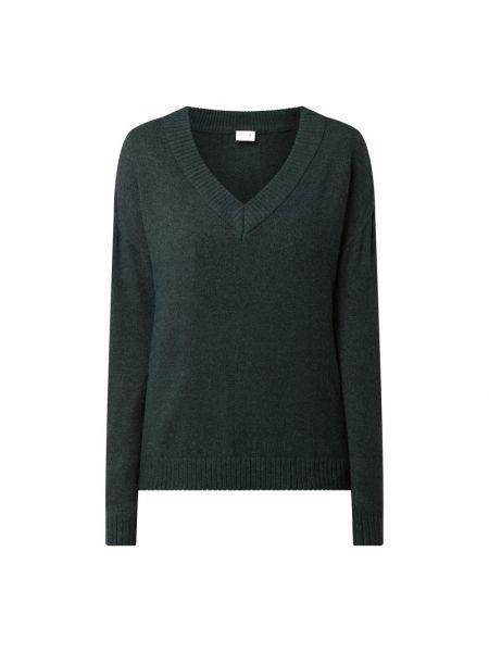 Zielony sweter z dekoltem w serek Vila