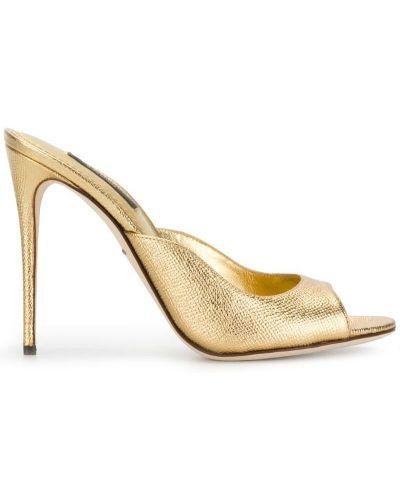 Туфли на высоком каблуке с открытым носком Dolce & Gabbana