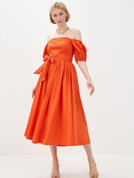 Платье коралловый с открытыми плечами Glamorous