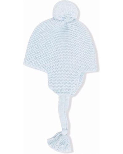Czapka z pomponem wełniana - niebieska Il Gufo
