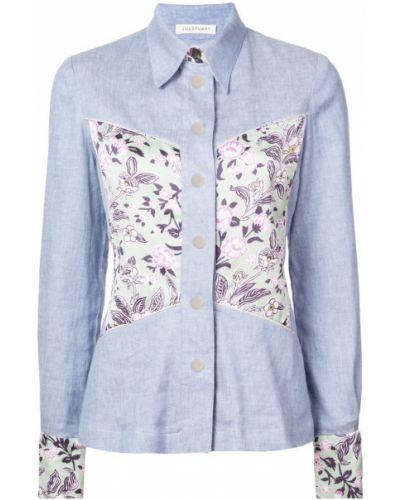 Классическая синяя джинсовая рубашка на пуговицах с запахом Jill Stuart