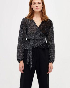 Блузка с длинным рукавом черная салатовый Lime