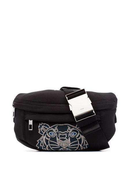 Мерцающая черная сумка через плечо Kenzo