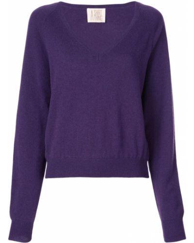 Фиолетовая рубашка с разрезом A Shirt Thing