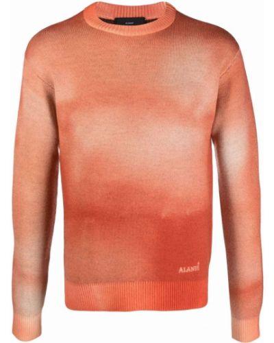 Pomarańczowa bandana z printem wełniana Alanui