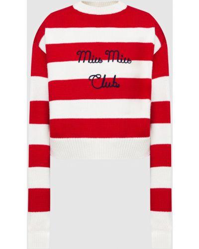 Красный шерстяной свитер Miu Miu
