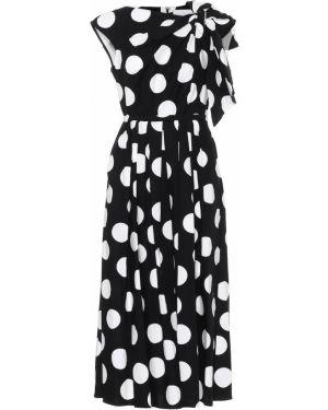 Ватное хлопковое черное вечернее платье стрейч Carolina Herrera