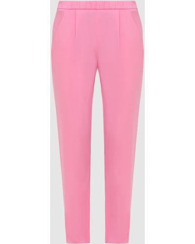 Повседневные шелковые розовые брюки Vionnet