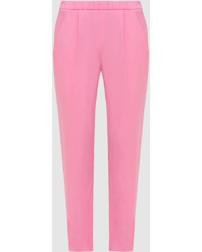 Шелковые брюки - розовые Vionnet