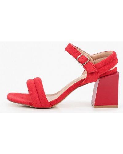 Красные текстильные босоножки La Bottine Souriante
