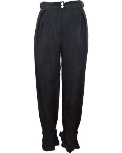 Czarne spodnie oversize Pinko