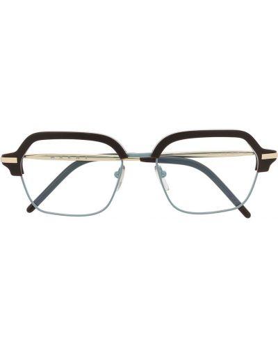 Прямые желтые очки для зрения квадратные металлические Marni Eyewear