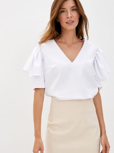 Белая блузка с оборками Lolita Shonidi