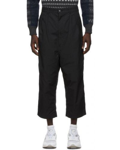Bawełna spodni czarny przycięte spodnie z kieszeniami Comme Des Garcons Homme