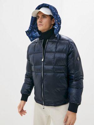 Синий зимний пуховик Armani Exchange