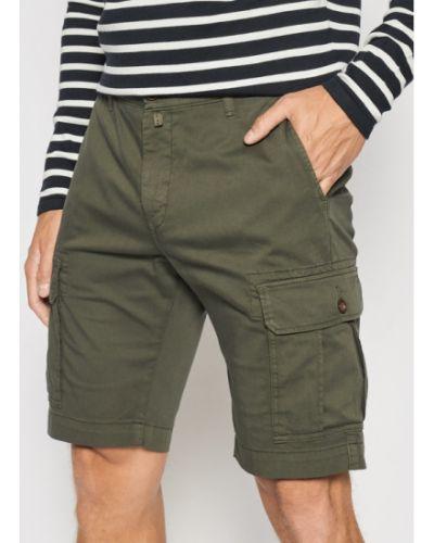 Zielone szorty jeansowe Pierre Cardin