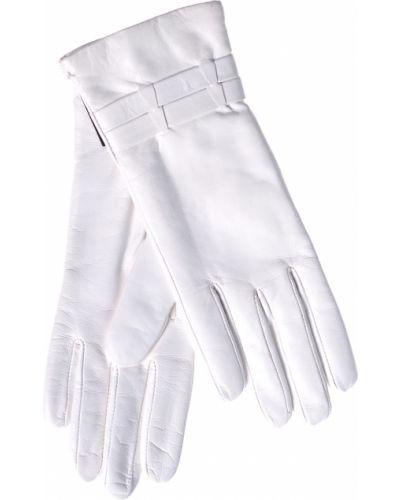 Кожаные перчатки белый Parola