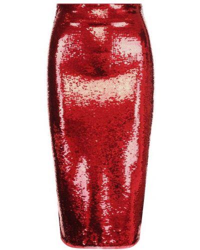 Юбка карандаш с пайетками красный Tom Ford