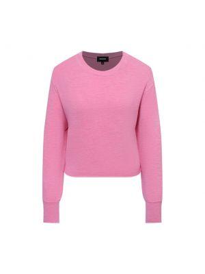 Трикотажный пуловер - розовый Monrow
