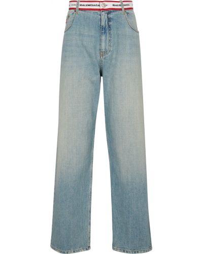 Джинсовые прямые джинсы - синие Balenciaga