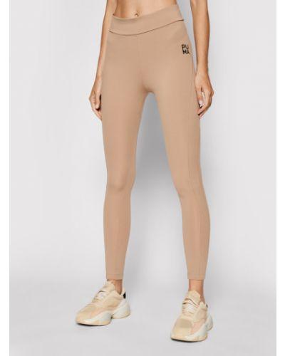 Brązowe legginsy Puma