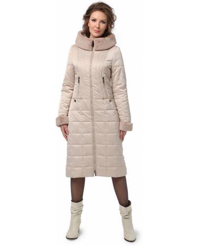 Пальто на молнии из искусственного меха на холлофайбере Dizzyway